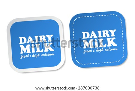 Dairy Milk Stickers