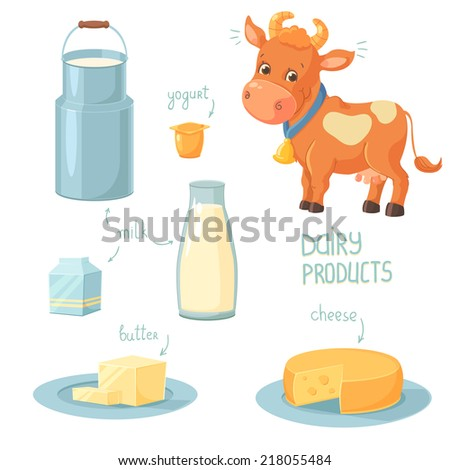 Dairy Products - stock vector