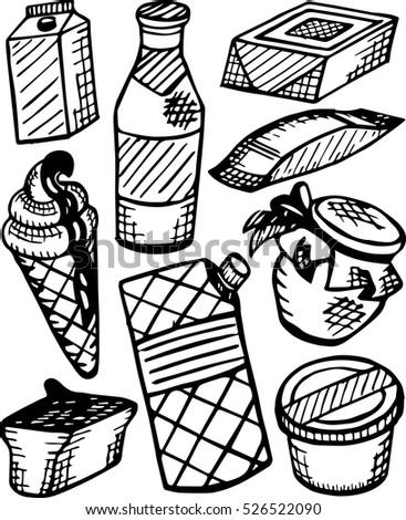 Dairy Free Illustration