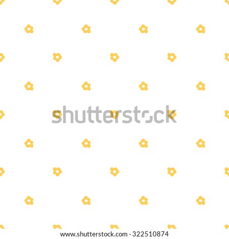 Daisies on white background, seamless summer pattern,vector. - stock vector