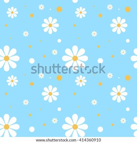 daisy background - stock vector