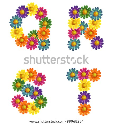 S Alphabet In Flowers ... Images similar to ID 99320591 - daisy flowers alphabet letters