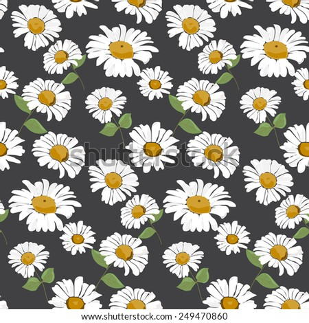 Daisy pattern wallpaper - photo#49