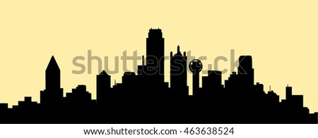 Dallas Skyline - Vector