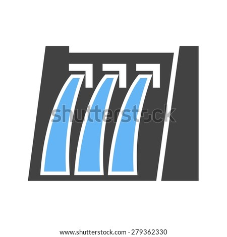 Dam, water, hydro electric icon vector image. Can also be used for energy and technology. Suitable for web apps, mobile apps and print media. - stock vector
