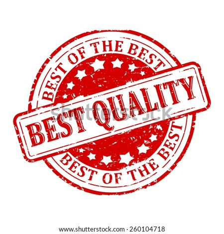 Damaged round red stamp with the word - the best quality, the best of the best -vector - stock vector