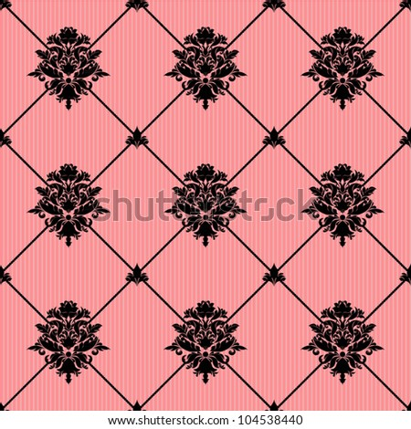 Damask background - stock vector