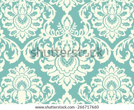 Damask background center piece individual element for other uses  - stock vector