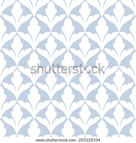 Damask beautiful background with rich, old style, blue luxury ornamentation, fashioned seamless pattern, royal vector wallpaper, floral wrapping paper, swatch fabric for decoration and design - stock vector