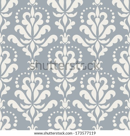 Damask Beautiful Background Rich Old Style Stock Vector