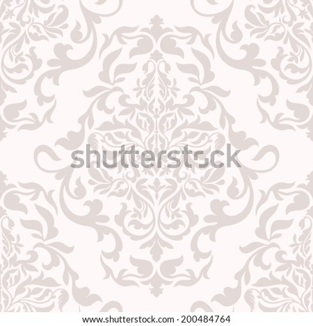 Damask beautiful background with rich, old style, luxury ornamentation, pink fashioned seamless pattern, royal vector wallpaper, floral wrapping paper, swatch fabric for decoration and design - stock vector