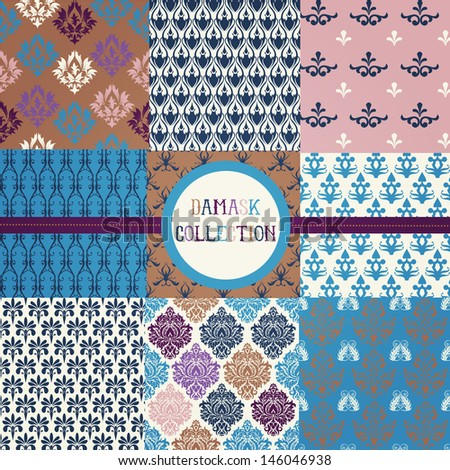 Damask Collection - stock vector
