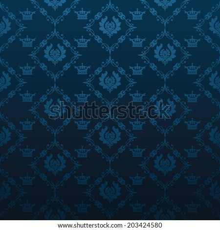 damask decorative wallpaper for walls vintage patterns abstract background vector - stock vector