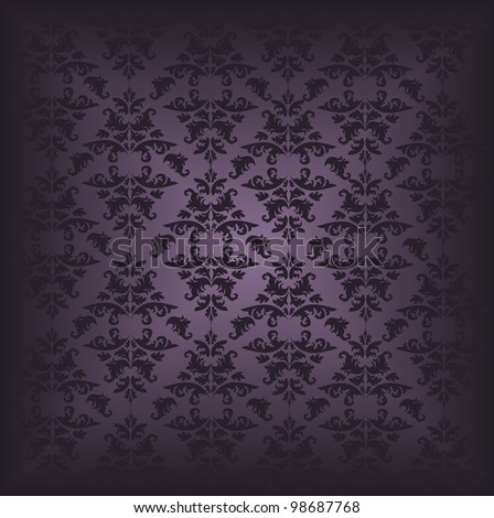 Damask pattern 3 - stock vector