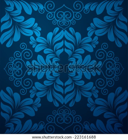 Damask seamless floral pattern. Vintage  illustration - stock vector