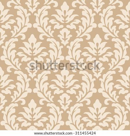 Damask seamless pattern - stock vector