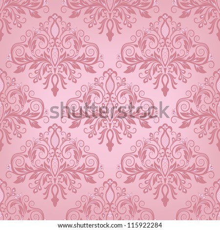 Damask seamless pattern for design. Vector Illustration - stock vector