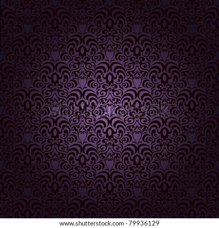 Damask seamless pattern on gradient background. Could be used as repeating wallpaper, textile, wrapping paper, background, etc. - stock vector