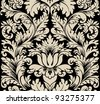 Damask seamless silk - stock vector