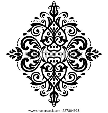 Damask vector floral pattern with arabesque and oriental elements. Seamless abstract tradiional ornament for wallpaper and background - stock vector