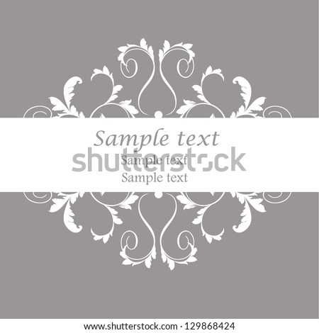 Damask vector style. Perfect for invitations and ornate backgrounds. Wedding card or invitation with abstract damask background. Abstract greeting card. - stock vector