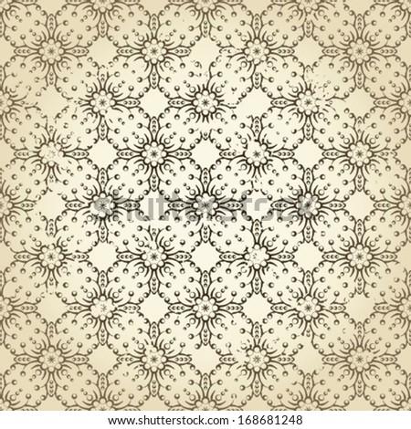 Damask vintage background pattern, vector Eps10 illustration. - stock vector