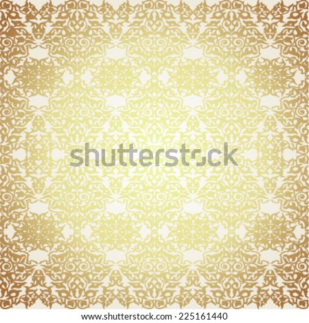 Damask vintage floral seamless pattern ,Victorian style background. Vector illustration. - stock vector