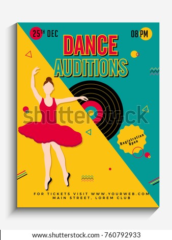 Dance Auditions Flyer Or Poster Design