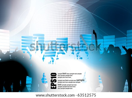 Dance Club eps10 - stock vector