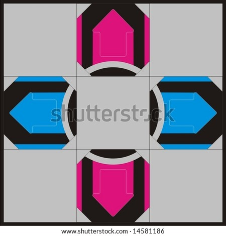 Dance Dance Revolution Pad - stock vector