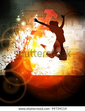 Dance event illustration - stock vector