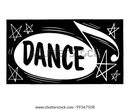 Dance Header - Retro Clipart Illustration - stock vector