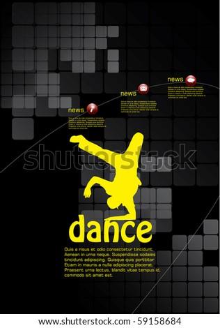 Dance poster - stock vector