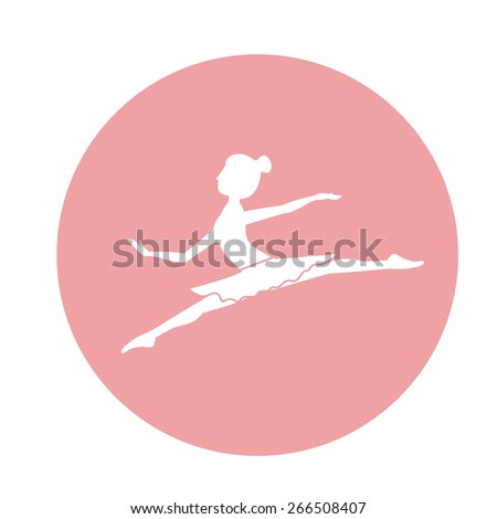 Dancer design over white background, vector illustration