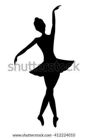 Dancer Girl Symbol Stock Vector Royalty Free 412224010 Shutterstock