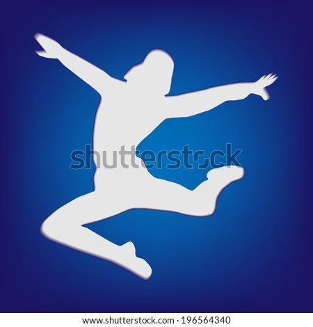 Dancer on the Black shiny button with metallic elements, vector design for website. - stock vector