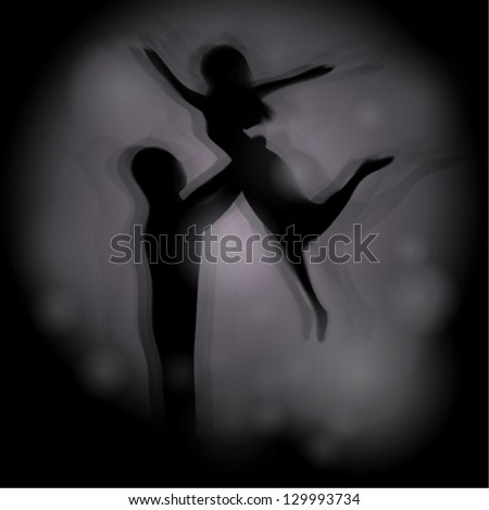 Dancing couple / Human Silhouettes at night