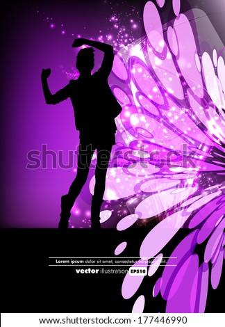 Dancing girl - stock vector