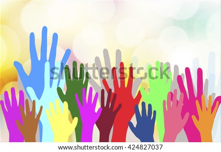 Dancing hands crowd vector