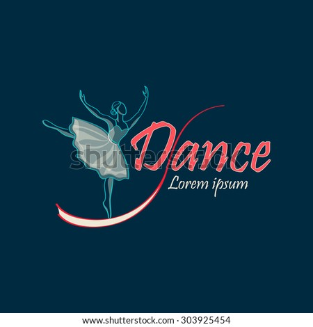 Dancing Logo of classical ballet, figure ballet dancer - stock vector