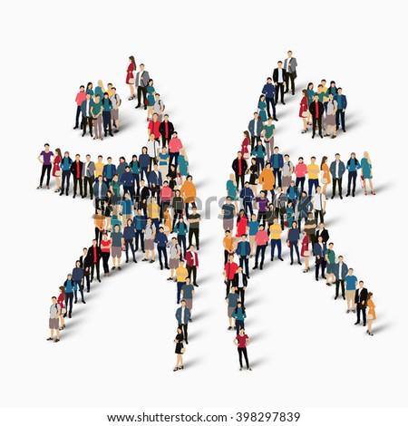 Dancing Man Symbol People Stock Vector 398297839 Shutterstock
