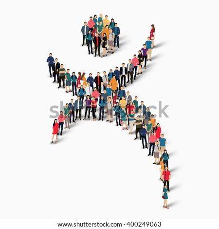 Dancing Man Symbol People Stock Vector 400249063 Shutterstock