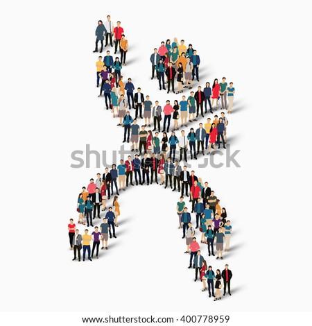 Dancing Man Symbol People Stock Vector 400778959 Shutterstock