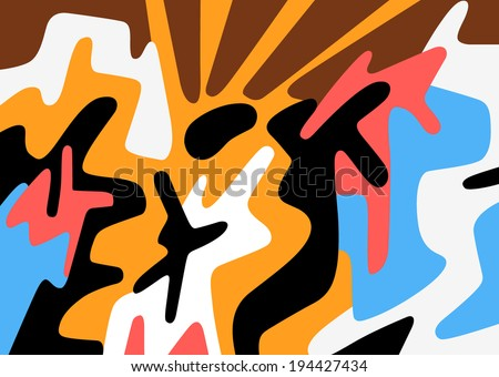 dancing people - abstract background