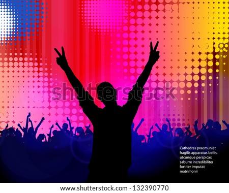 Dancing people. Vector - stock vector