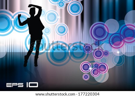 Dancing woman. Vector