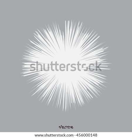 Dandelion abstract - stock vector