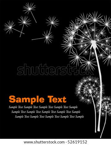 Dandelion background, vector illustration