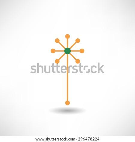 Dandelion icon - stock vector