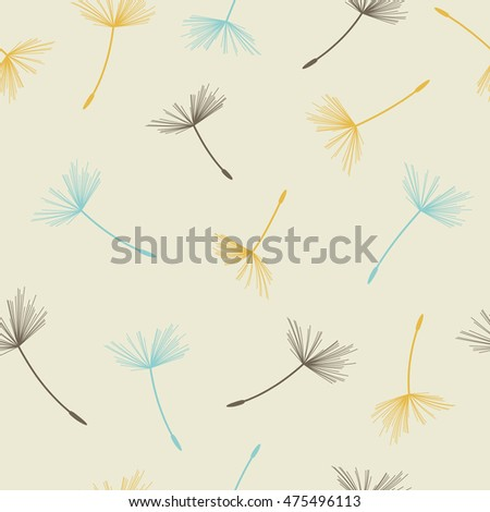 Dandelion seamless pattern. Vector illustration